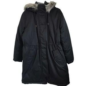 Universal Thread Arctic Parka Coat w/Hood in Black